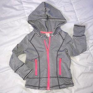 Gymboree gymgo striped full zip hoodie